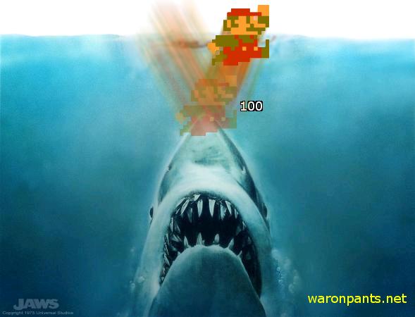Mario vs Shark
