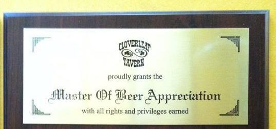 Cloverleaf Master of Beer Appreciation