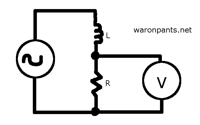 Inductor Voltage Divider Schematic