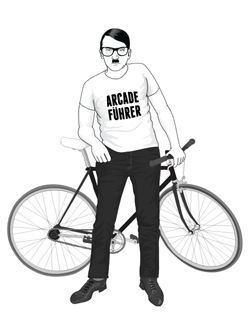 Hipster Hitler - Arcade Fuhrer Shirt and Fixie