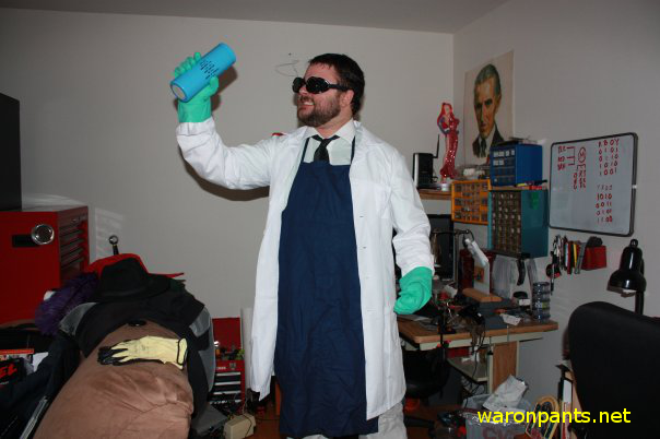 Pantsless the Mad Scientist