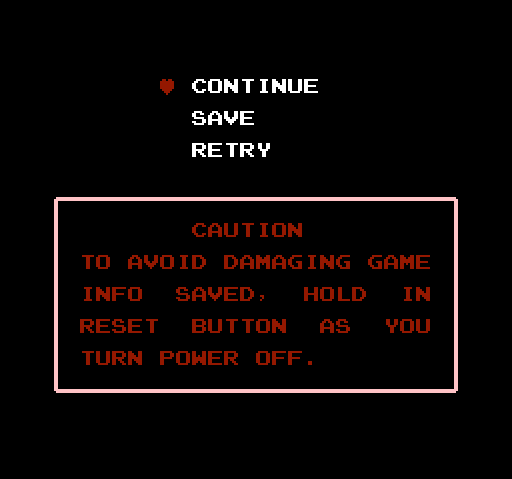 Legend of Zelda - Game Over Screen