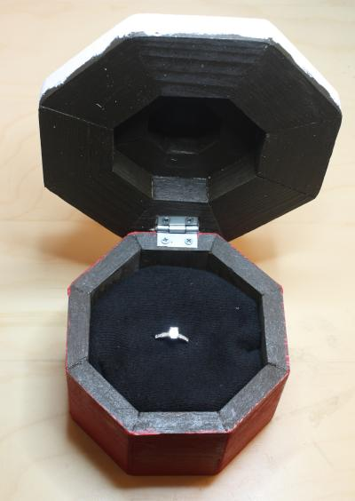 Engagement Ring Box - Open