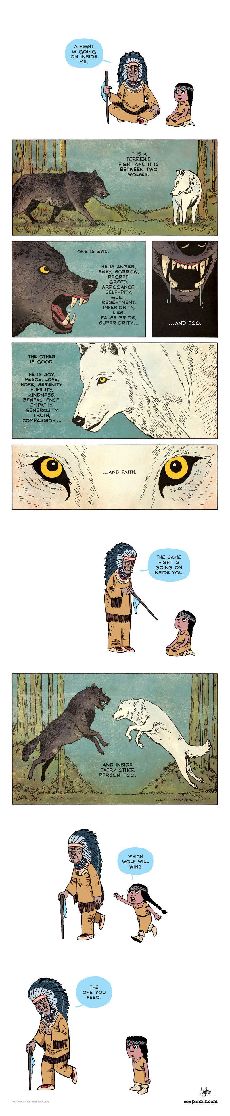 Zen Pencils - Two Wolves