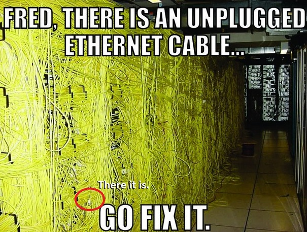 Ethernet Cable Mess
