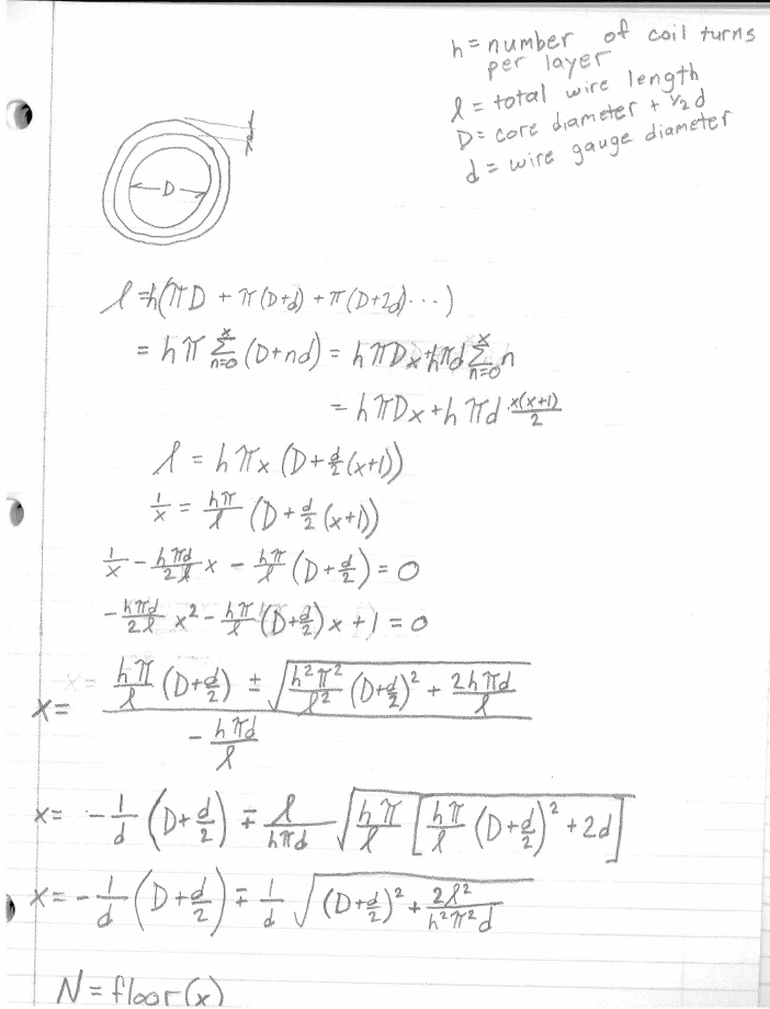 Number of Turn Equation