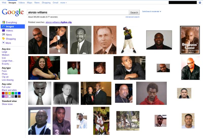 Alonzo Williams Search