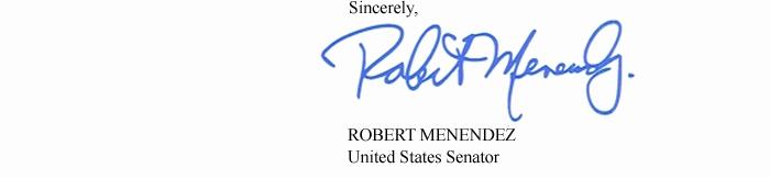 Menendez Signature