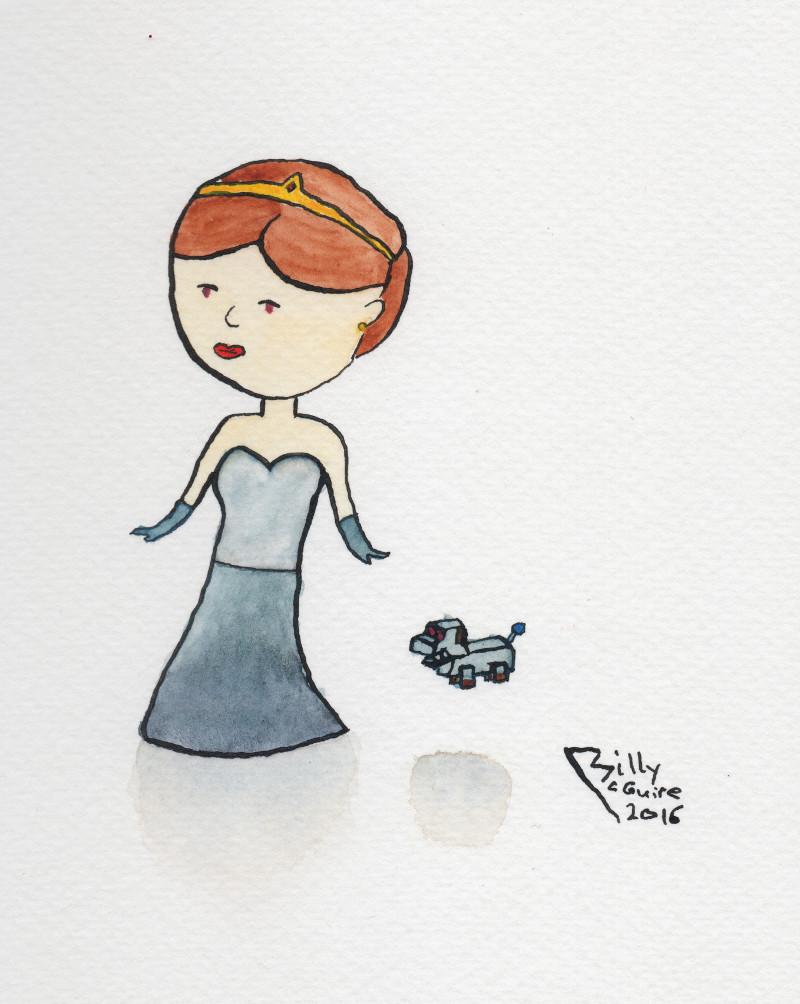 Galactic Princess and Robot Dog