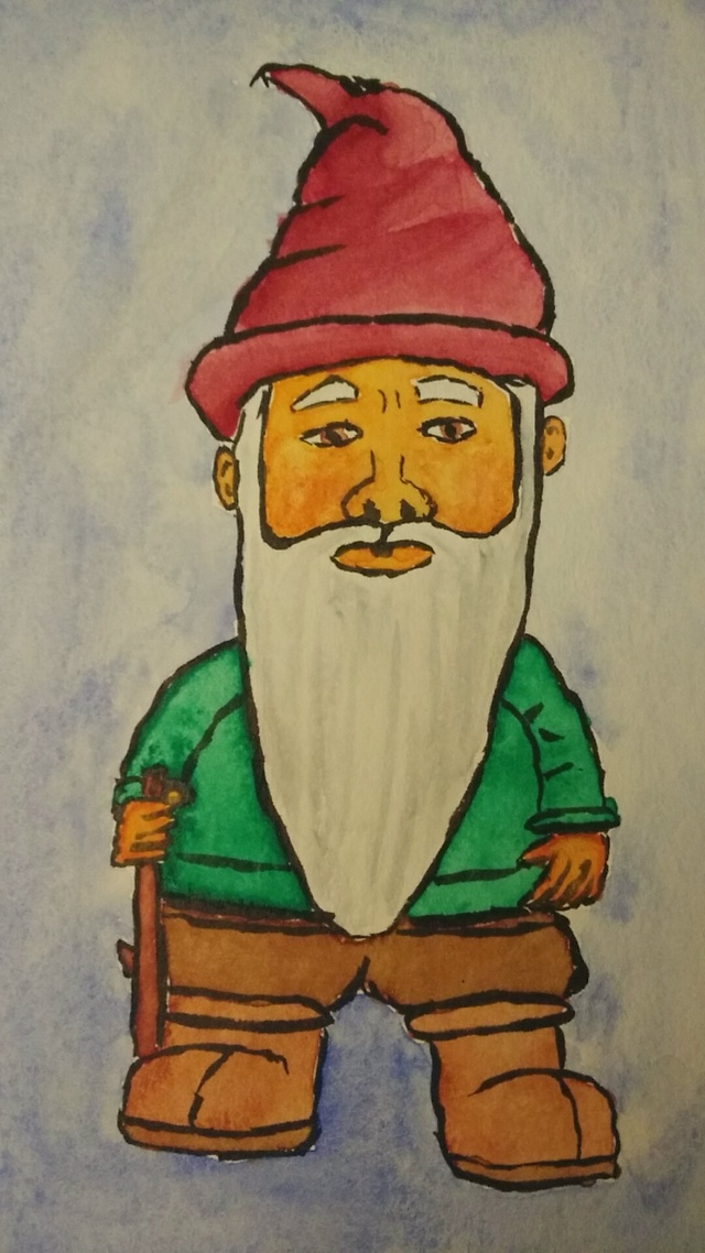 Watercolor Gnome